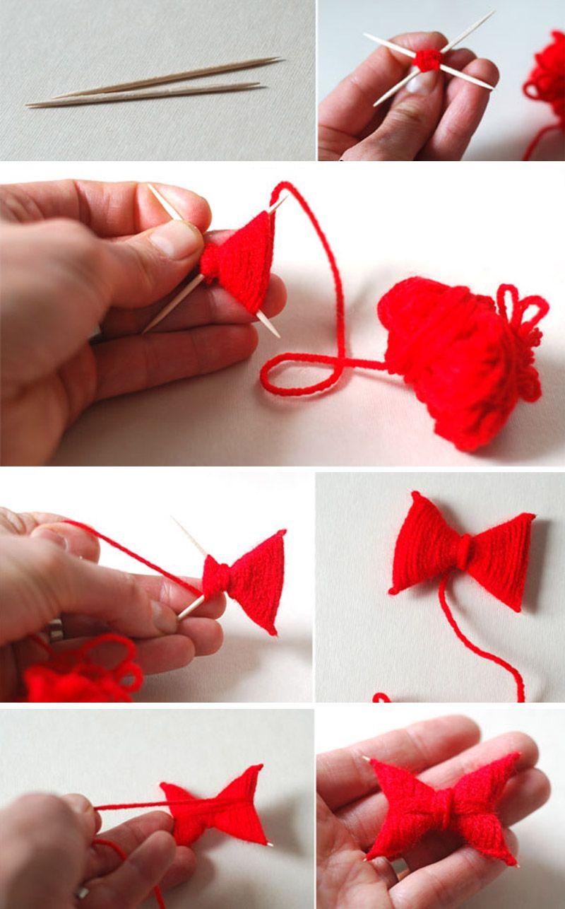 Бабочки из ниток для декора