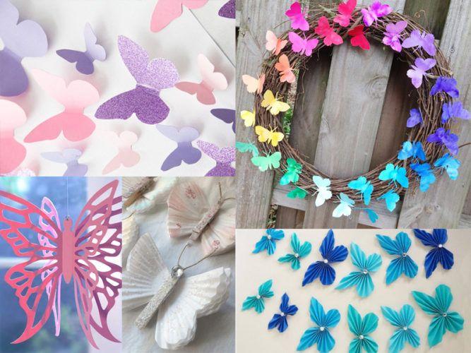 Бабочки на стену своими руками: трафареты и шаблоны для вырезания