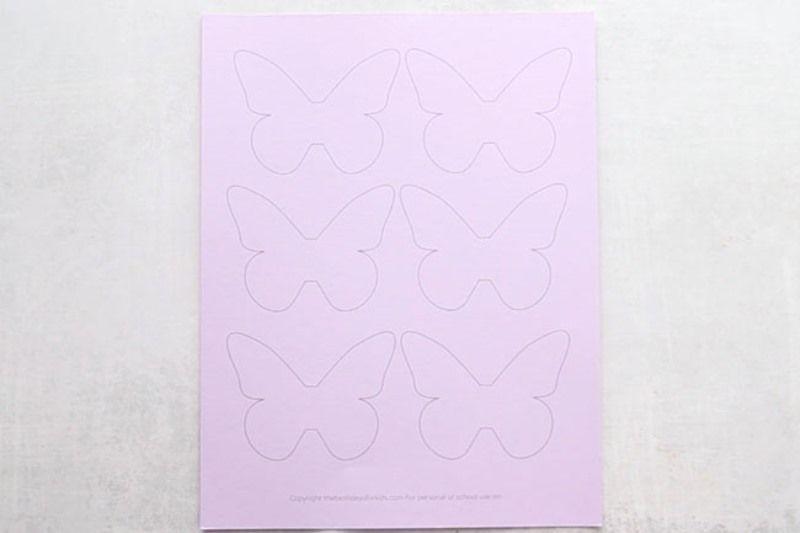 Шаблон бабочек на стену, распечатанный