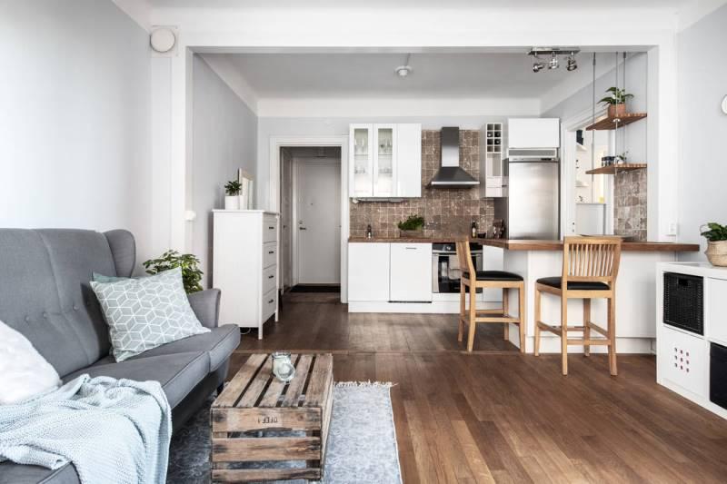 перепланировка квартиры 46 метров - вариант 3