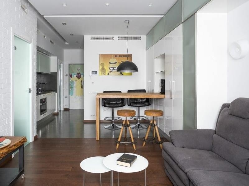 Кухня в коридоре - фото