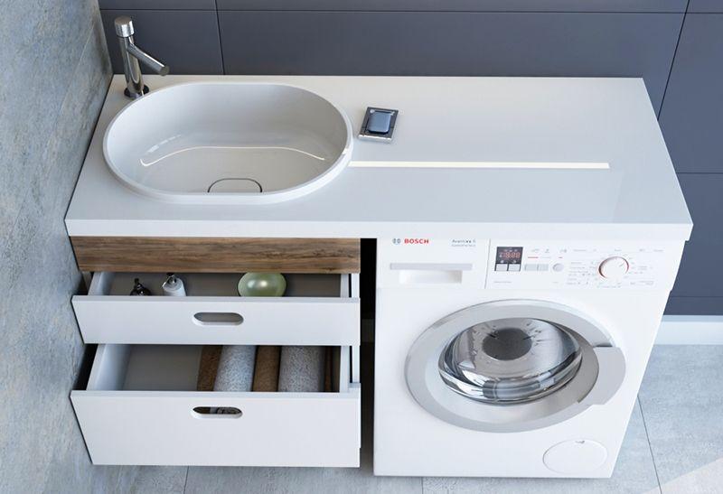 Выбираем раковину над стиральной машиной