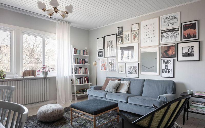 Светлая двухкомнатная квартира площадью 46 кв.метров: планировка + дизайн