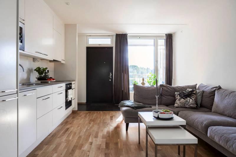 Однокомнатная квартира 44 метра, дизайн интерьера