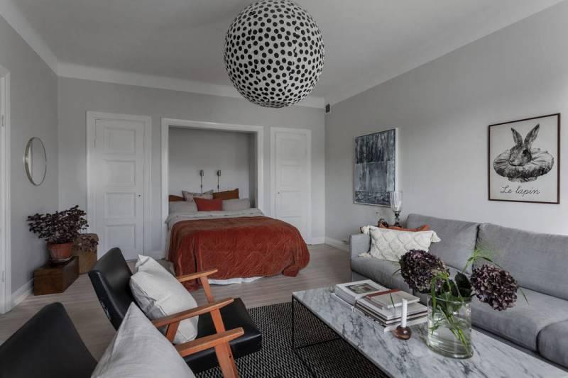 Светлая однокомнатная квартира