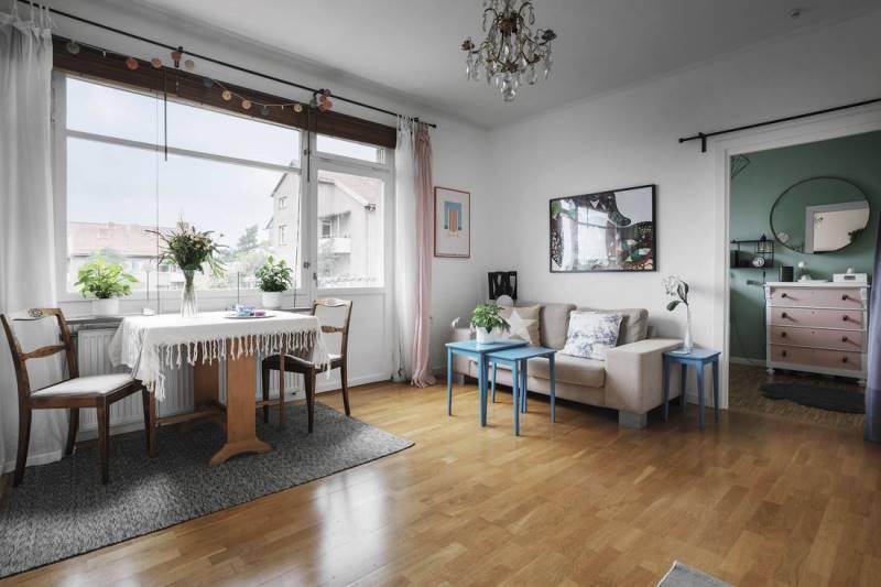 Интерьер двухкомнатной квартиры в светлых тонах