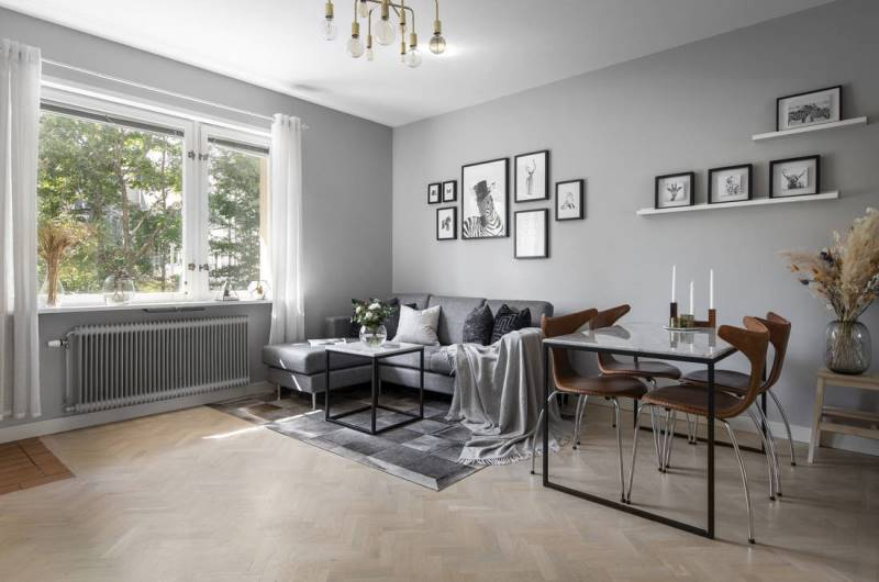 Скандинавский стиль в двухкомнатной квартире 45 метров