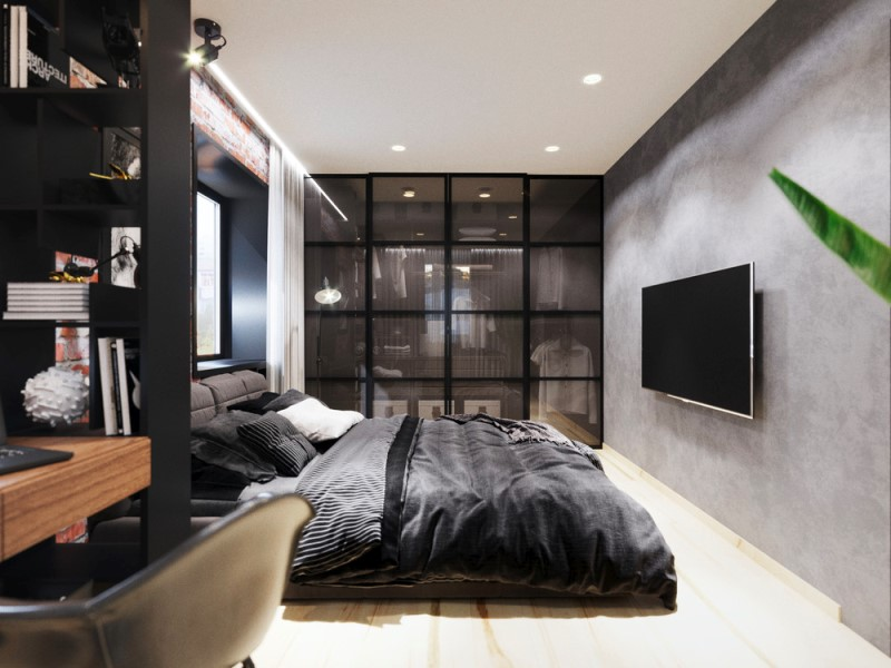 Необычный дизайн-проект двухкомнатной квартиры