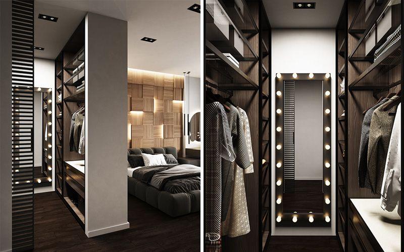 Гардеробная в спальне: фото