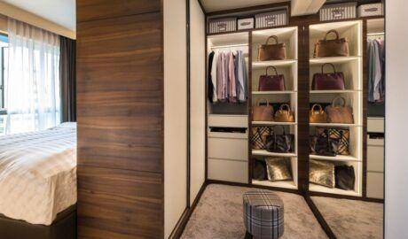 Гардеробная в спальне: планировка, дизайн, размещение