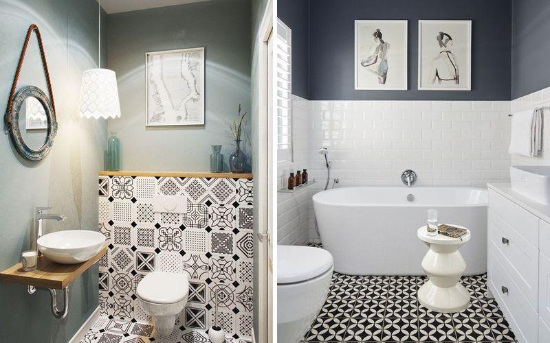 как совместить плитку с краской в ванной