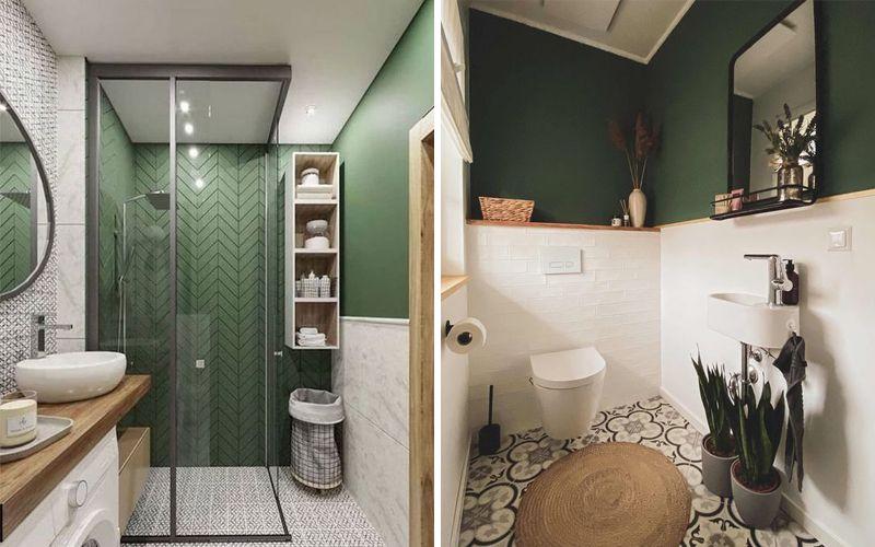 плитка и краска в ванной